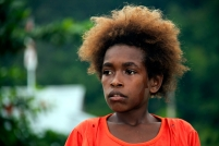 A kid with blounde hair from Lobo