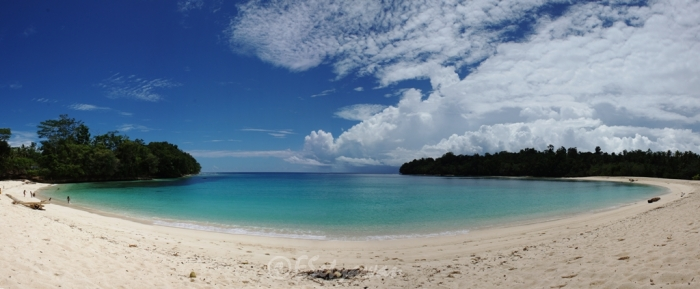 Wari Beach - white sandy beach in Biak, Papua